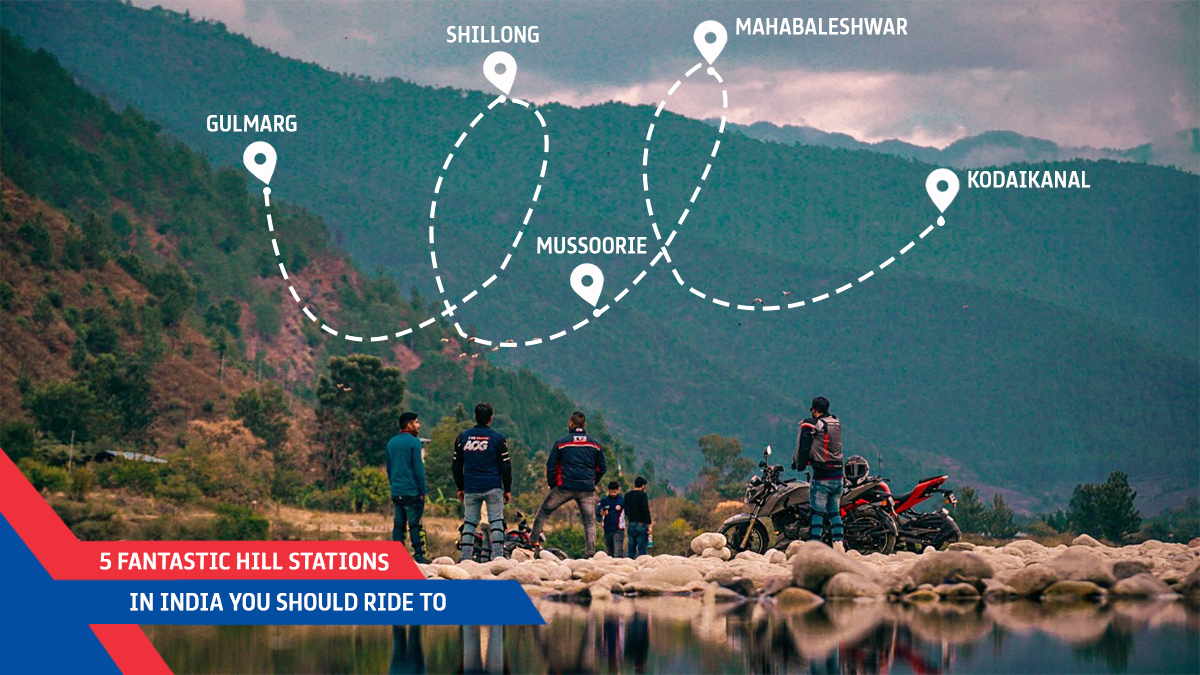 5 Fantastic Hill Stations In India You Should Ride To