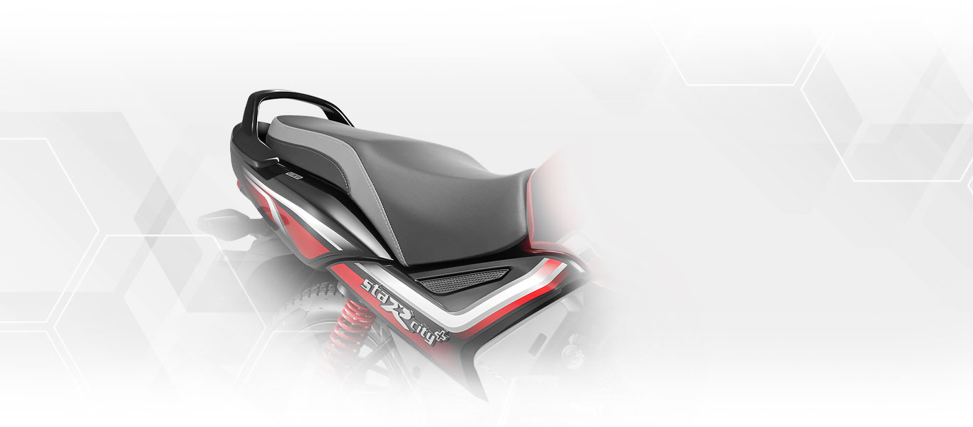 TVS Star City Plus Premium Dual Tone Seat