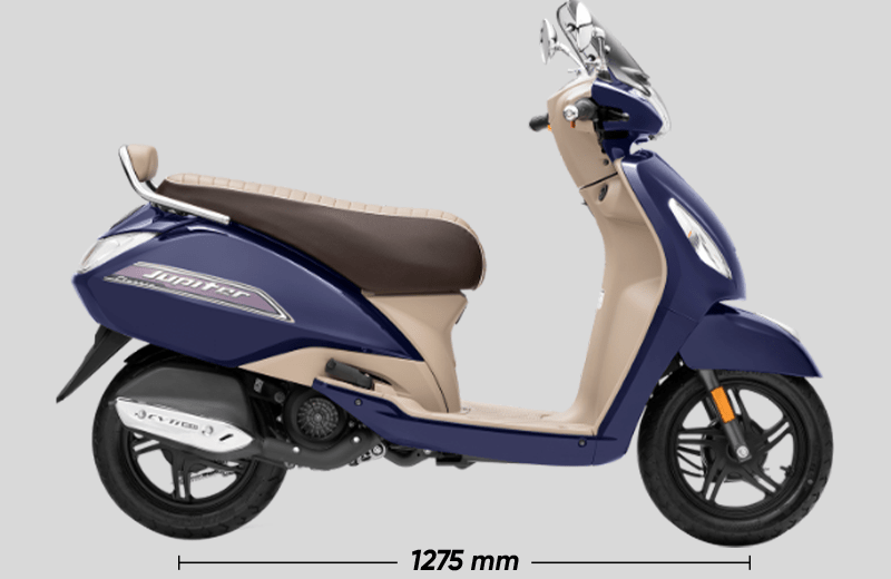 TVS Jupiter Classic BSVI Largest Wheel Base