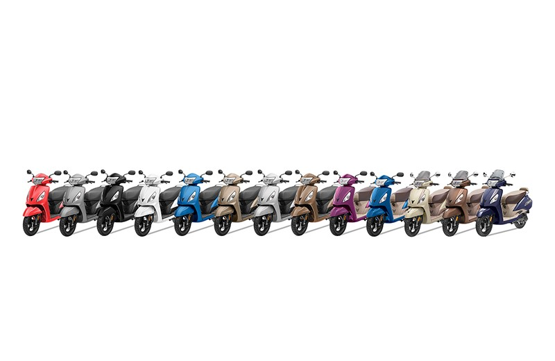 TVS Jupiter Range Zyada Colours